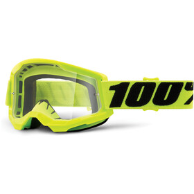 100% Strata Anti-Fog Goggles Gen2 fluo yellow/clear